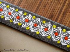 Beautiful and easy border rangoli | Creative rangoli designs by Poonam Borkar - YouTube