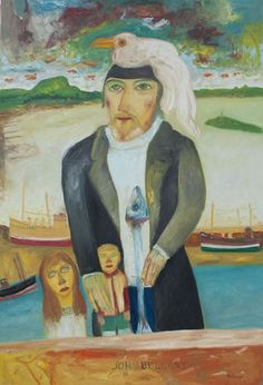 Self-Portrait by John Bellany (b.1942). Much more passionate colors! Lovely subjects, with weirdness but in good way. Relates to my out of door experiences.