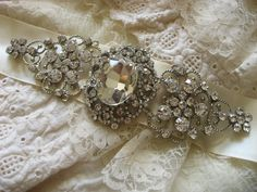 Olivia Swarovski rhinestone crystal romantic and feminine wedding bridal gown belt sash
