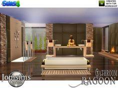 Ragoon Zen Bathroom by jomsims at Jomsims Creations via Sims 4 Updates