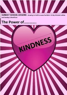 This very full (22 pages) lesson can easily be spread out over a unit of work about kindness. It is suitable for Sunday School, a Christian school or home schooling families.It contains very detailed a list of needed materials, teaching suggestions, cycle of learning activities, prayers, Bible reading, moral story, activity sheets, suggestion and recipe for cooking activity, songs and a chant, kindness cards and a Christian mind-journey/visualisation.All prayers and songs are presented on…