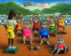 """Tubby Tabbies"" Painted by Don Roth. Prints available on web site."