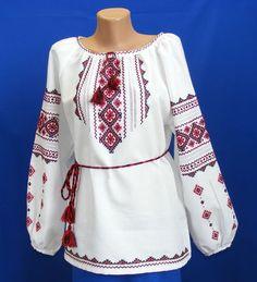 Ukrainian Hand Embroidered Women's Blouse Sorochka Size M   eBay