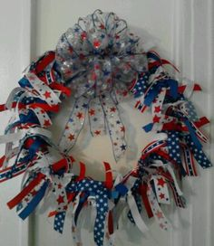 Memorial Day/4th of July Ribbon Wreath