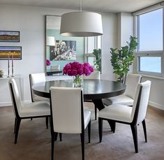 Beachfront Glam  Dining Room  Dining  Contemporary by Mitchell Channon Design