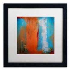 "Trademark Art 'Orange Swatch' by Nicole Dietz Framed Painting Print Size: 16"" H x 16"" W x 0.5"" D"