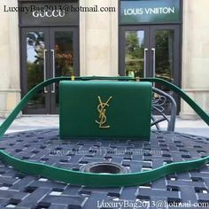 b73929c3eaf6 Yves Saint Laurent Cross-body Shoulder Bag Y26605 Green. YSL Bags Sale