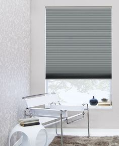 Consider custom cellular shades for stylish, energy efficient window treatments.  They can insulate your home by trapping air within their honeycomb cells.