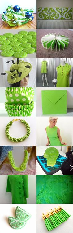 Lovely Lime!  by TheDaintyBoutique on Etsy--Pinned with TreasuryPin.com