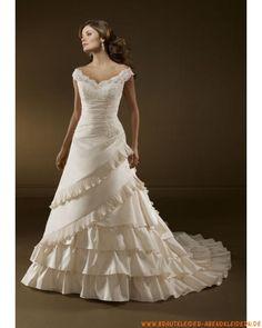 2013 Elegantes Brautkleid aus Satin A/Linie mit Spitze online