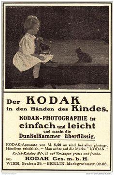 Original-Werbung/ Anzeige 1910 - KODAK - ca. 75 x 110 mm