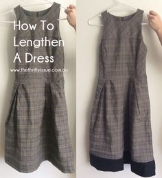 I often see dresses and skirts I like that fit me everywhere but that I wish were just that little bit longer. The op shops are full of them. I get around this dilemma by adding a contrast strip to the bottom of the dress. It's quite easy to do, takes less than 30 minutes ... [Read more...]