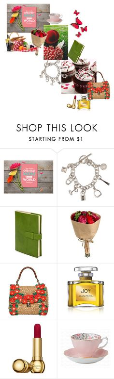 """""""Happy mothers days! Wish I could be there."""" by nathalie-puex ❤ liked on Polyvore featuring Hermès, Dolce&Gabbana, Jean Patou and Christian Dior"""