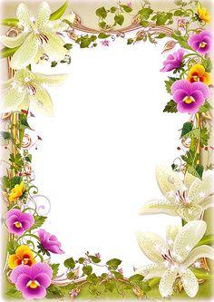 Frame Border Design, Boarder Designs, Page Borders Design, Photo Frame Design, Free Frames And Borders, Boarders And Frames, Borders For Paper, Flower Boarders, Flower Frame