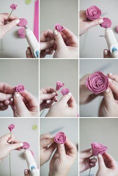 How to make felt ranunculus flowers!!