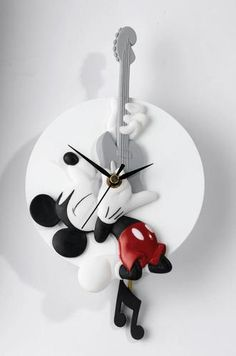 Mickey Rocks Mickey Mouse Wall Clock | eBay