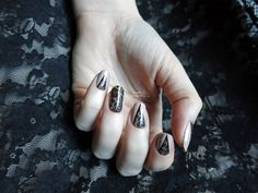 Nailpolis Museum of Nail Art | Work (in)appropriate lacy number by simplynailogical