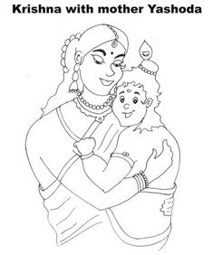 Gallery for gt radha krishna drawing for kids festivals for Coloring pages of krishna
