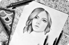 Realistic girl pencil drawing by Olenka [WIP] More : https://www.facebook.com/pages/Olenka/647167888679052