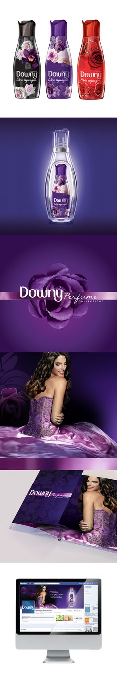 New Downy Perfume Collection. Packaging and key visuals design. Tana Tozzelli sent me this lovely #packaging to share PD