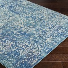 """Bungalow Rose Andover Blue Area Rug Rug Size: 7'10"""" x 10'3"""""""