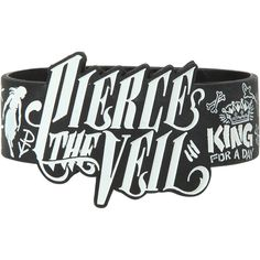 Hot Topic Pierce The Veil Die-Cut Drawings Rubber Bracelet ($5.60) ❤ liked on Polyvore featuring jewelry, bracelets, accessories, rubber bracelets, white jewelry, rubber jewelry and rubber bangles