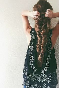 stretch it out to make thick loose braid