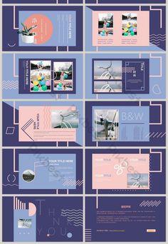 fashion color block geometric mosaic minimalist line product ppt template Page Layout Design, Ppt Design, Slide Design, Booklet Design, Design Posters, Graphic Design Brochure, Branding Design, Identity Branding, Visual Identity