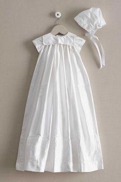 Isabel Garreton Traditional Silk Christening Gown & Bonnet | Chasing Fireflies