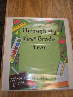 Mrs. Terhune's First Grade Site!: Student Organization- keep a portfolio for each student. Add work each month and have students color cardstock month paper to divide up work.