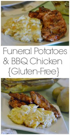 Funeral Potatoes & BBQ Chicken are easy to make and a real crowd pleasing recipe. This family favorite meal is one we have been enjoying for generations. Hope your family loves it as much as we do. www.glutenfreefrenzy.com