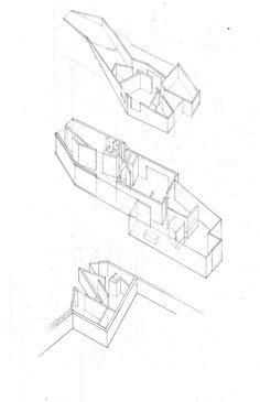 Axonometric Study - Mobius House, UN Studio