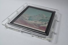New iPad Acrylic Enclosure, made of 8 mm acrylic material, old ones was 5 mm