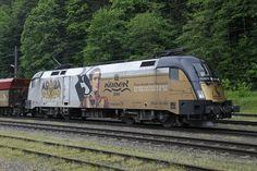 "182 523 ""Kaiser-Franz-Josef"" in Eisenerz am Taurus, Kaiser Franz Josef, Train Truck, Heart Of Europe, Day Up, Transportation, Passion, Vehicles, Board"