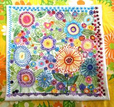 embroidery inspiration via Flickr. 3.6.2015