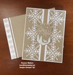 15 Pals Paper Crafting Picks of the Week (Mary Fish, Stampin' Pretty The Art of Simple & Pretty Cards) Diy Christmas Snowflakes, Christmas Cards 2017, Snowflake Cards, Homemade Christmas Cards, Stampin Up Christmas, Noel Christmas, Xmas Cards, Handmade Christmas, Holiday Cards