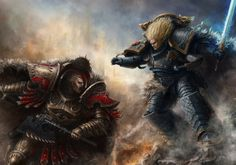 Leman Russ, The Wolf King vs Angron, the Red Angel of the World Eaters