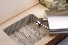 Vintage Book Safe & Whiskey Hip Flask  A History by HollowBookCo, $55.00