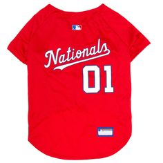 Washington Nationals Pets First Baseball Dog Jersey - Red Xxl,