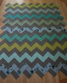 zig zag quilt without triangles