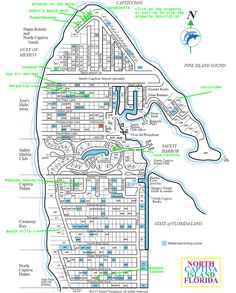 North captiva map
