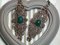 Boucles d'oreille pierre fine agate verte fait main  Boucles d'oreille par cathycreations