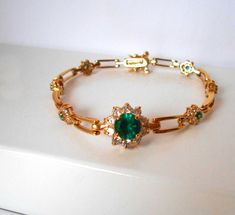 Your place to buy and sell all things handmade Gold Ring Designs, Gold Bangles Design, Gold Earrings Designs, Gold Jewellery Design, Antique Jewellery, Emerald Jewelry, Gold Jewelry, Beaded Jewelry, Kids Jewelry