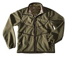 Noiseless, reversible fleece jacket with windproof, breathable wind beater membrane and Realtree Xtra Green camouflage. Side pockets and radio pockets. Camouflage, Pockets, Green, Sports, Clothes, Shopping, Collection, Hs Sports, Outfits