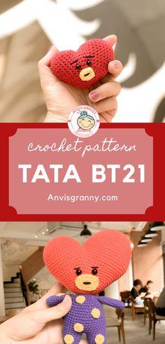 Crochet Doll Tutorial, Crochet Keychain Pattern, Crochet Amigurumi Free Patterns, Crochet Instructions, Crochet Patterns For Beginners, Easy Crochet Patterns, Yarn Crafts, Diy Crafts, Kpop Diy