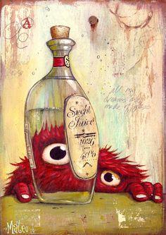 Mateo dinnen #monstruo #botella