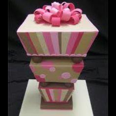 Top heavy carton cake