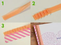 washi tape ruffles, this a really cute effect! Washi Tape Cards, Washi Tape Diy, Masking Tape, Tape Crafts, Sewing Crafts, Diy And Crafts, Diy Postcard, Book Wrap, Crafty Hobbies