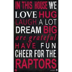 Fan Creations NBA In This House Sign Wall Décor NBA: Toronto Raptors