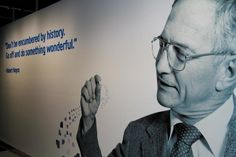 Robert Noyce, co-founder and first Intel CEO inside the Intel Museum